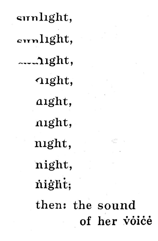 Bob Grumman visualpoetry nocturne by bob grumman tony rel a
