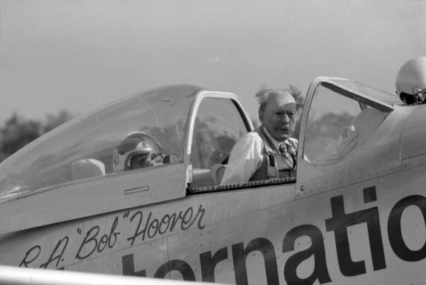 """R.A Signed by Bob Hoover /""""Bob/"""" Hoover with his Reno Air Race P-51 /""""Ole Yeller/"""""""