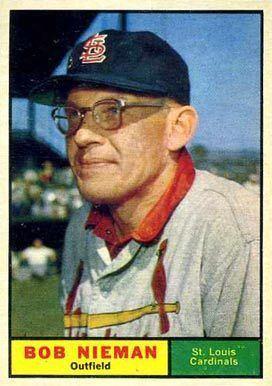 Bob Nieman 1961 Topps Bob Nieman 178 Baseball Card Value Price Guide