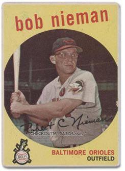 Bob Nieman Sethcom Bob Niemans RecordSetting Home Run Baseball