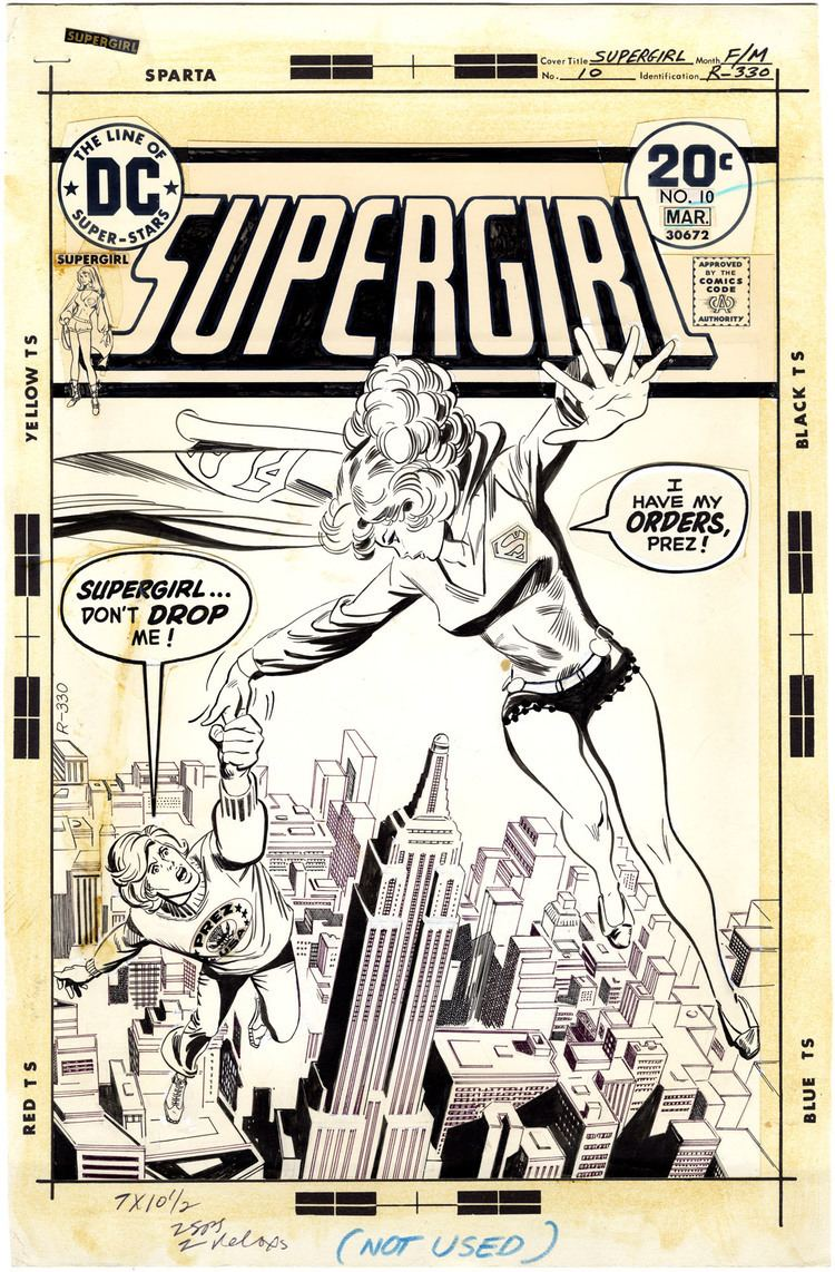 Bob Oksner Supergirl Issue 10 Cover Comic Art Nostalgic Investments