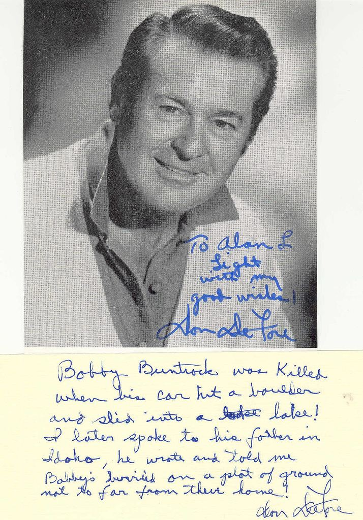 Bobby Buntrock Letter from Don DeFore Flickr Photo Sharing