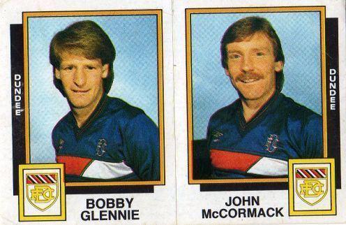 Bobby Glennie DUNDEE Bobby Glennie John McCormack 483AB PANINI Football 86
