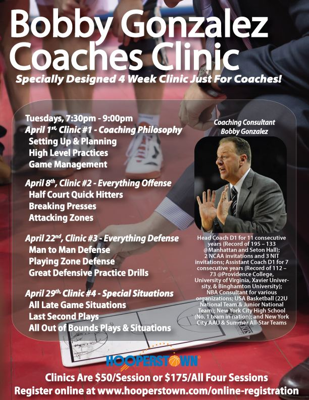 Bobby Gonzalez Bobby Gonzalez Coaches Clinic TriCounty Basketball League
