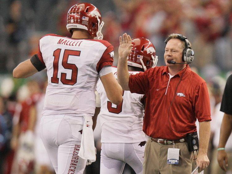Bobby Petrino Bobby Petrino out as head football coach at Arkansas according to