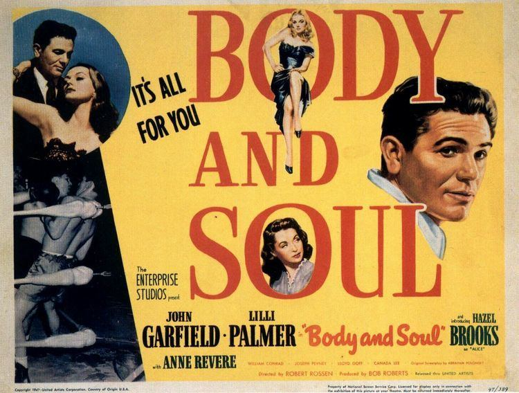 Body and Soul (1947 film) Film Noir Board BODY AND SOUL 1947