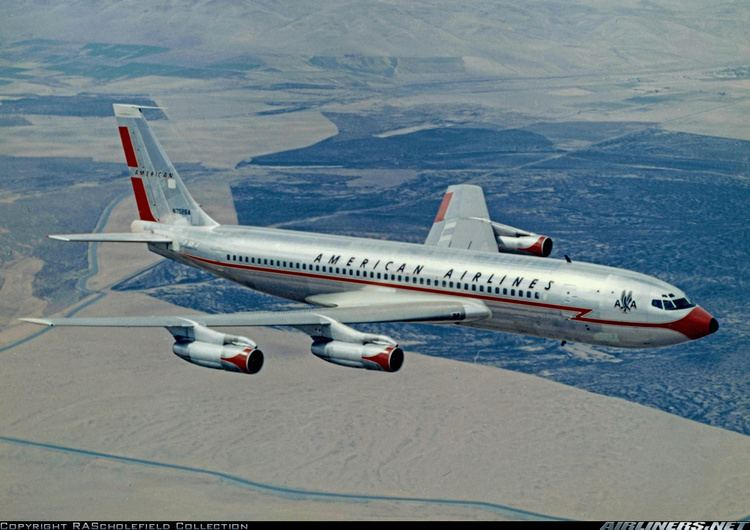 Image result for first scheduled transatlantic flight of american airlines 707