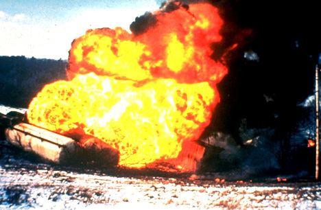 Boiling liquid expanding vapor explosion