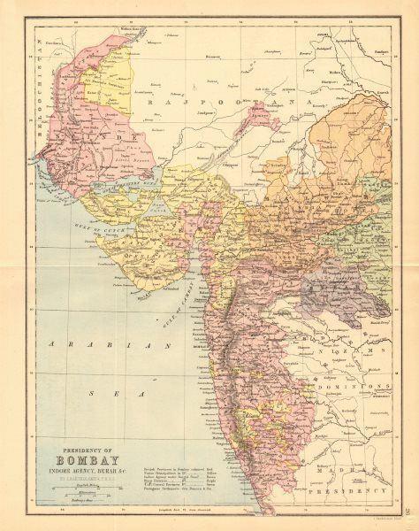 Bombay Presidency BRITISH INDIA Bombay Presidency Scinde Gujerat Railways 1876