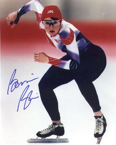 Bonnie Blair Bonnie Blair autographed 8x10 color photo Olympic Gold Medallist