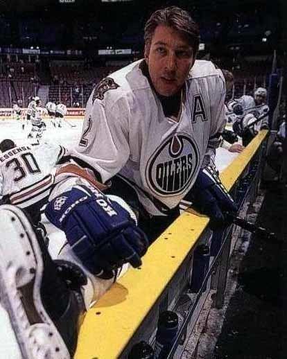Boris Mironov 199899 Boris Mironov Edmonton Oilers Game Worn Jersey