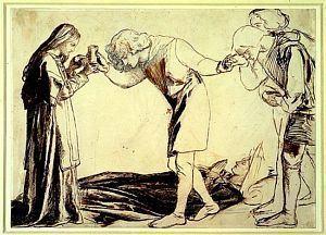 Bors Sir Galahad Sir Bors and Sir Percival Receiving the Sanc Grael
