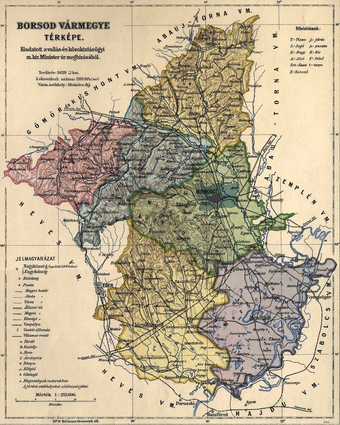 Borsod County in the past, History of Borsod County
