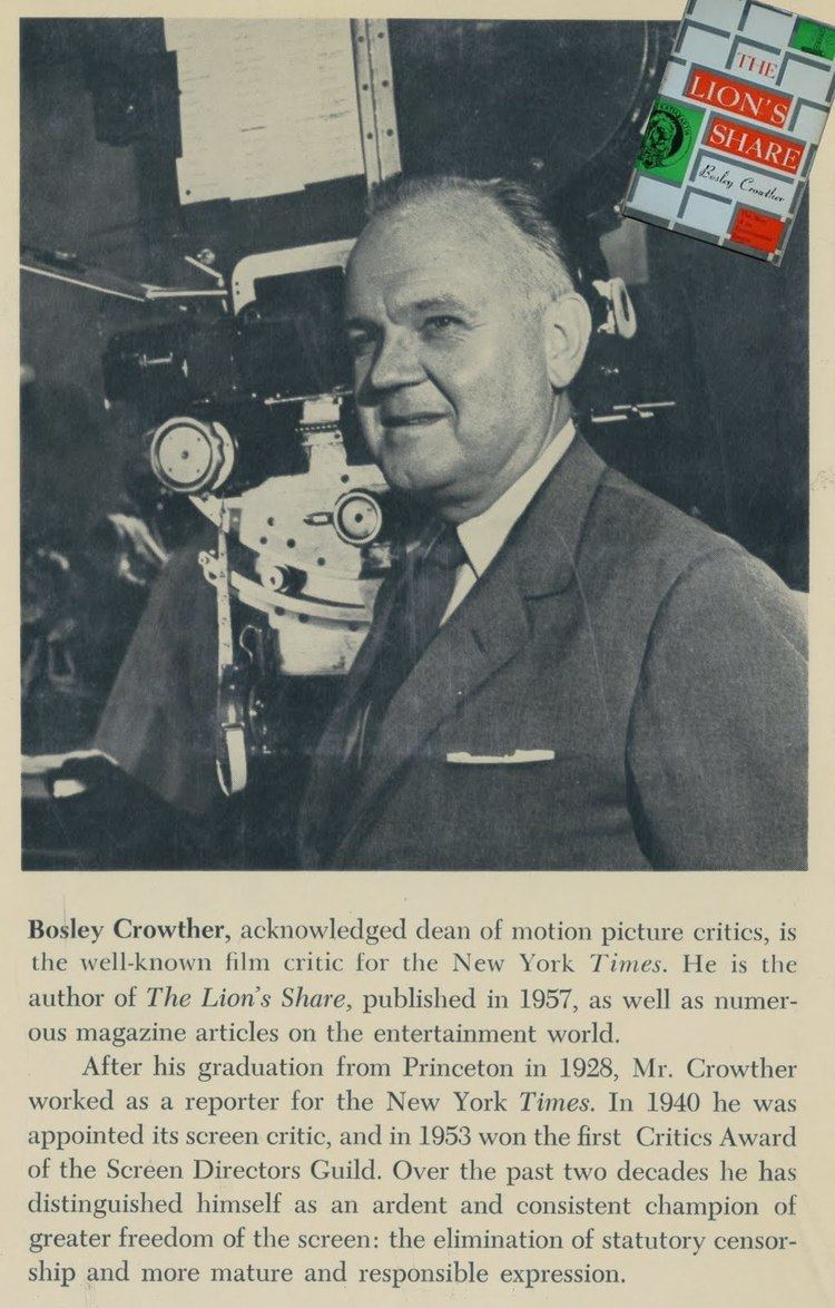 Bosley Crowther Greenbriar Picture Shows