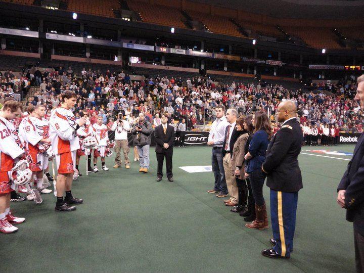 Boston Blazers Boston Blazers Military Friends Foundation Honor Local Fallen Hero