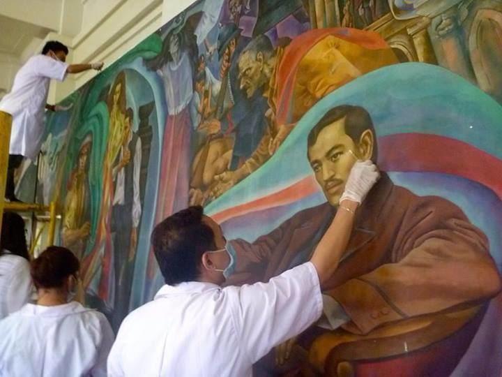 Botong Francisco Tam artists lead restoration of controversial Botong painting