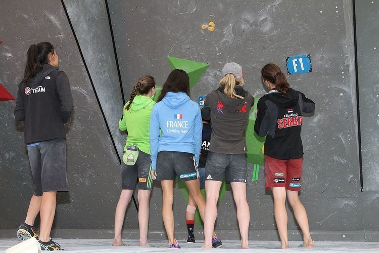 Bouldering at the 2015 IFSC Climbing World Cup