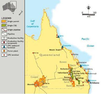 Bowen Basin Spring Gully location in the Bowen Basin Queensland map
