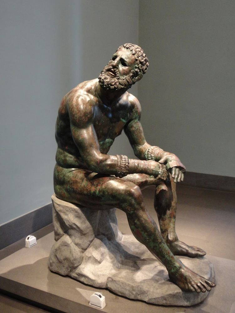 Boxer at Rest Guide of Rome LYSIPPUS39 BOXER IS RESTING AT PALAZZO MASSIMO