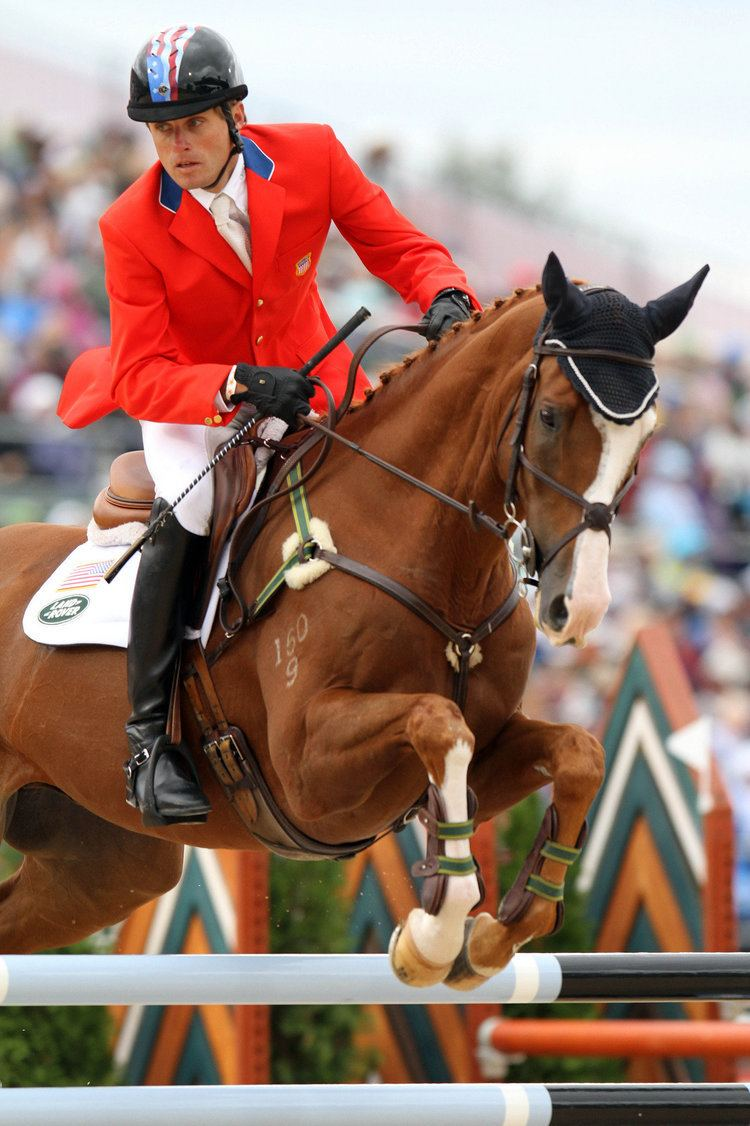 Boyd Martin Pennsylvania equestrian rider and his horses rise from