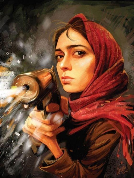 Bozorgmehr Hosseinpour Irancartoon Pegah AhangaraniThe Best Actress Of Iran