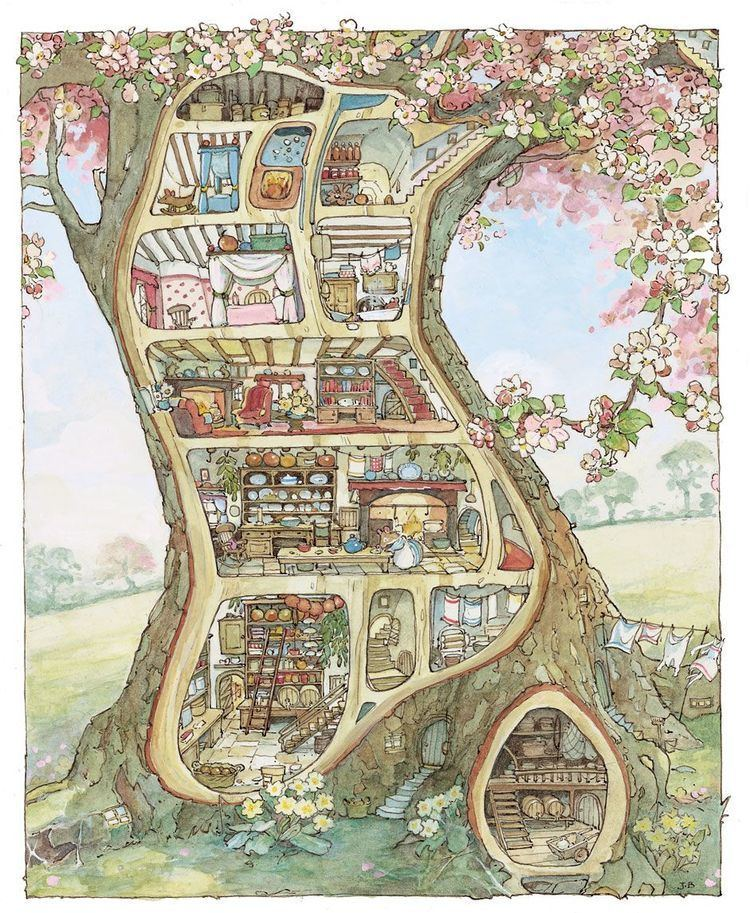 Brambly Hedge Miniature Mouse Tree Dolls House inspired by Brambly Hedge My