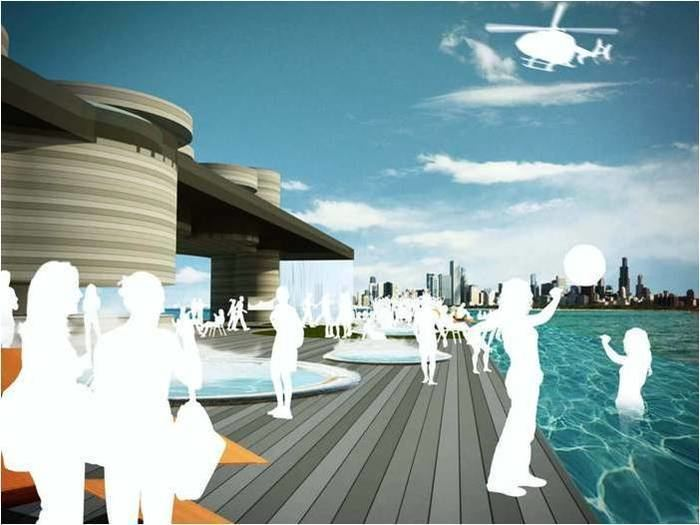 Breakwater Chicago Ahoy Chicago entrepreneur wants to park a floating pool in Lake