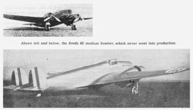 Breda Ba.82 Italian Aircraft of WWII BREDA Ba 82
