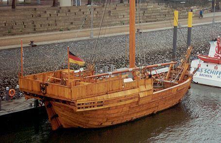 Bremen cog HANSEKOGGE Roland von Bremen data photos profile of the sailing