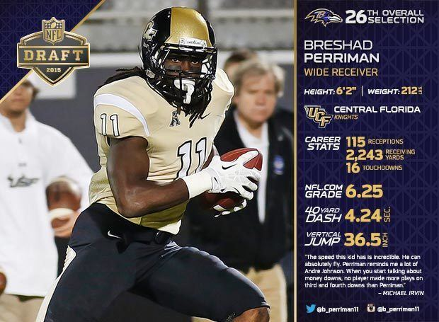 Breshad Perriman Round 1 Ravens Select WR Breshad Perriman With Top Pick