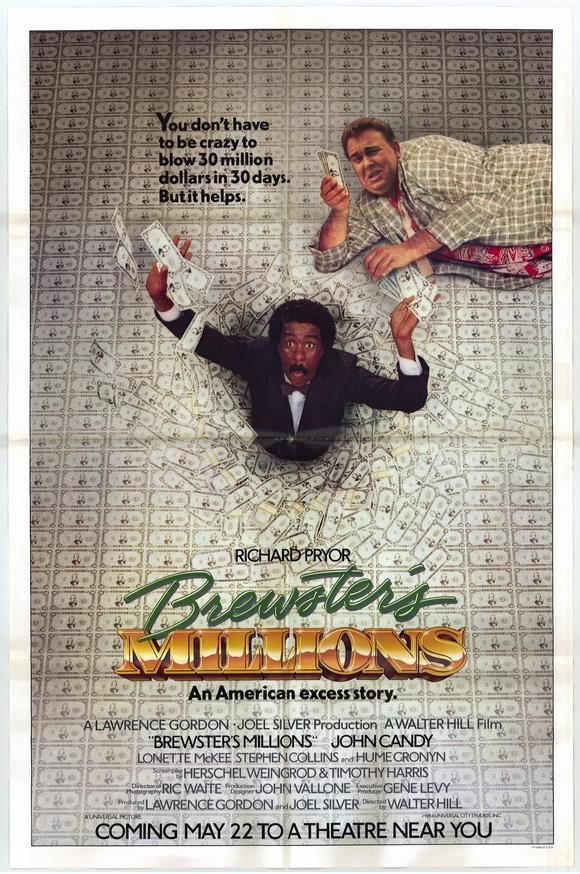 Brewsters Millions (1985 film) movie poster