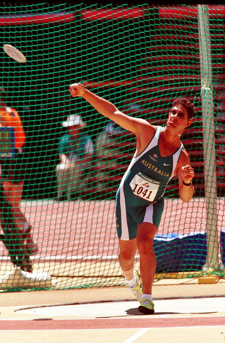 Brian Harvey (athlete) File261000 Athletics field discus F38 Brian Harvey bronze action