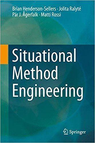 Brian Henderson-Sellers Situational Method Engineering Brian HendersonSellers Jolita
