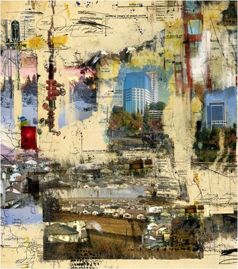 Brian Hubble Brian Hubble galerie art collage