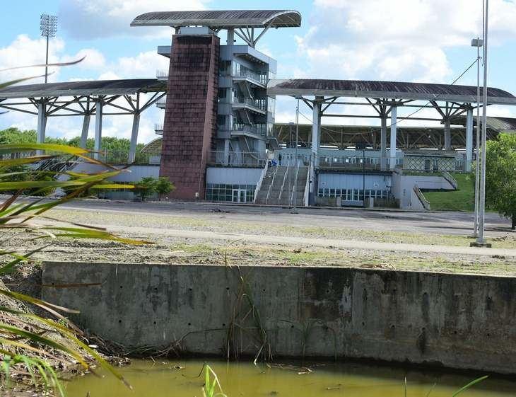 Brian Lara Stadium Trinidad Express Newspapers Sports Work starts at Lara stadium
