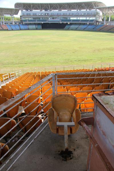 Brian Lara Stadium Thieves cart off materials from Brian Lara Stadium The Trinidad