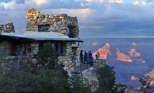 Brighty of the Grand Canyon movie scenes Perched at the Canyon s edge near Bright Angel Lodge in the South Rim The lookout Studio provides plenty of photo opportunities of