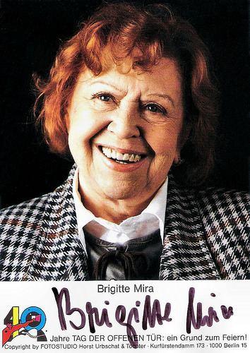 Brigitte Mira European Film Star Postcards Brigitte Mira