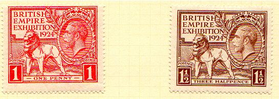 British Empire Exhibition postage stamps