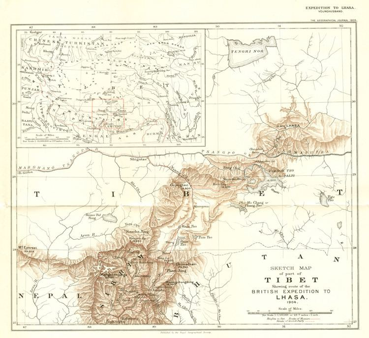 British expedition to Tibet Tibet and China After 1900 MCADDPAHAR