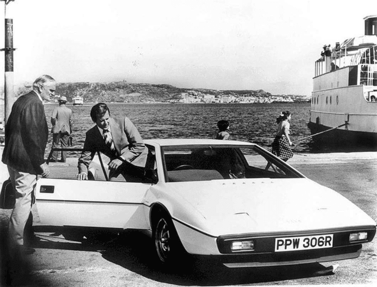 British Intelligence (film) movie scenes This Lotus Esprit is one of two complete fully functioning cars that were used for the driving scenes in the motion picture The Spy Who Loved Me