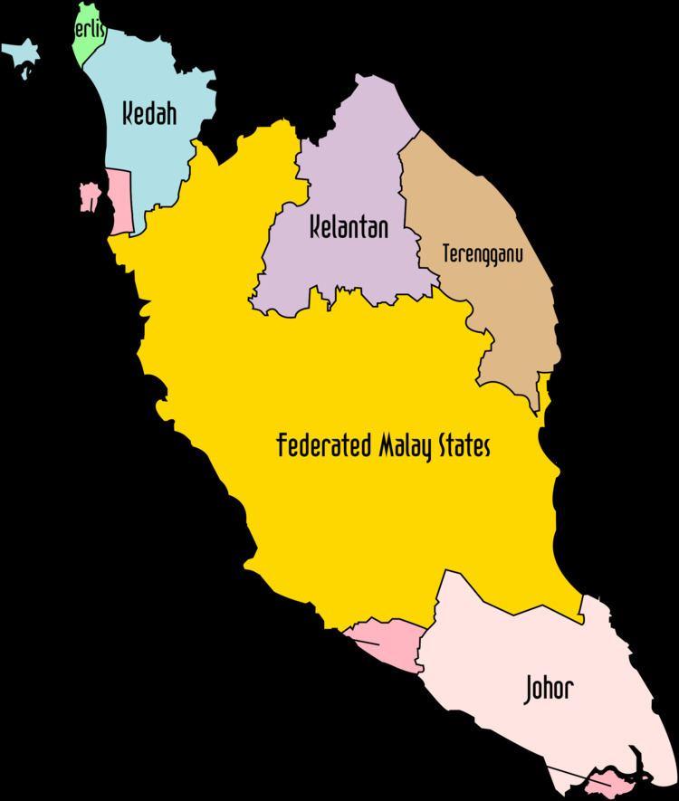 British Malaya Clipart Political Map of British Malaya 1939