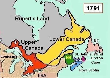 British North America British North America at the End of the 18th Century Site for
