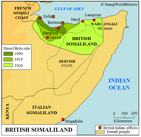 British Somaliland British Somaliland Stamps and postal history StampWorldHistory