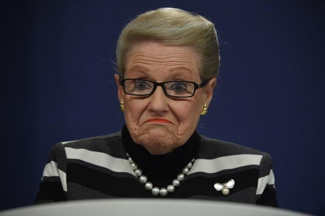 Bronwyn Bishop The ultimate horror for public servants judging Bronwyn