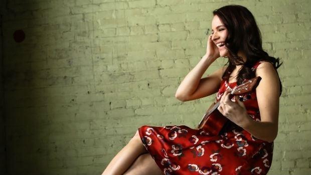 Brooke Palsson Less Than Kind actor Brooke Palsson picks up microphone