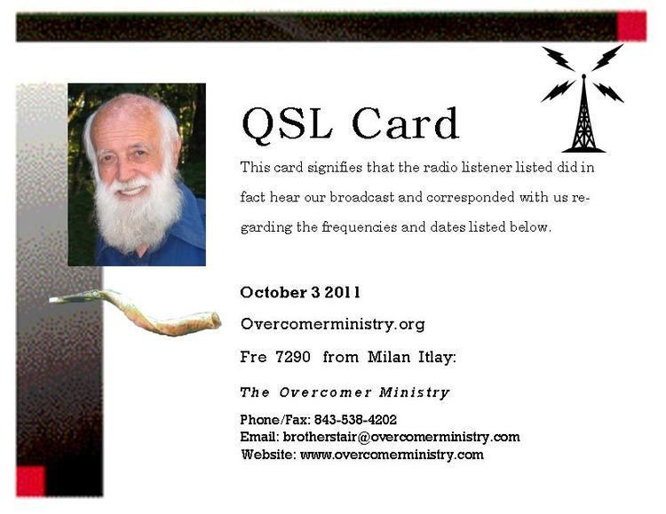 Brother Stair Bulgarian DX blog Overcomer Ministry QSL Card