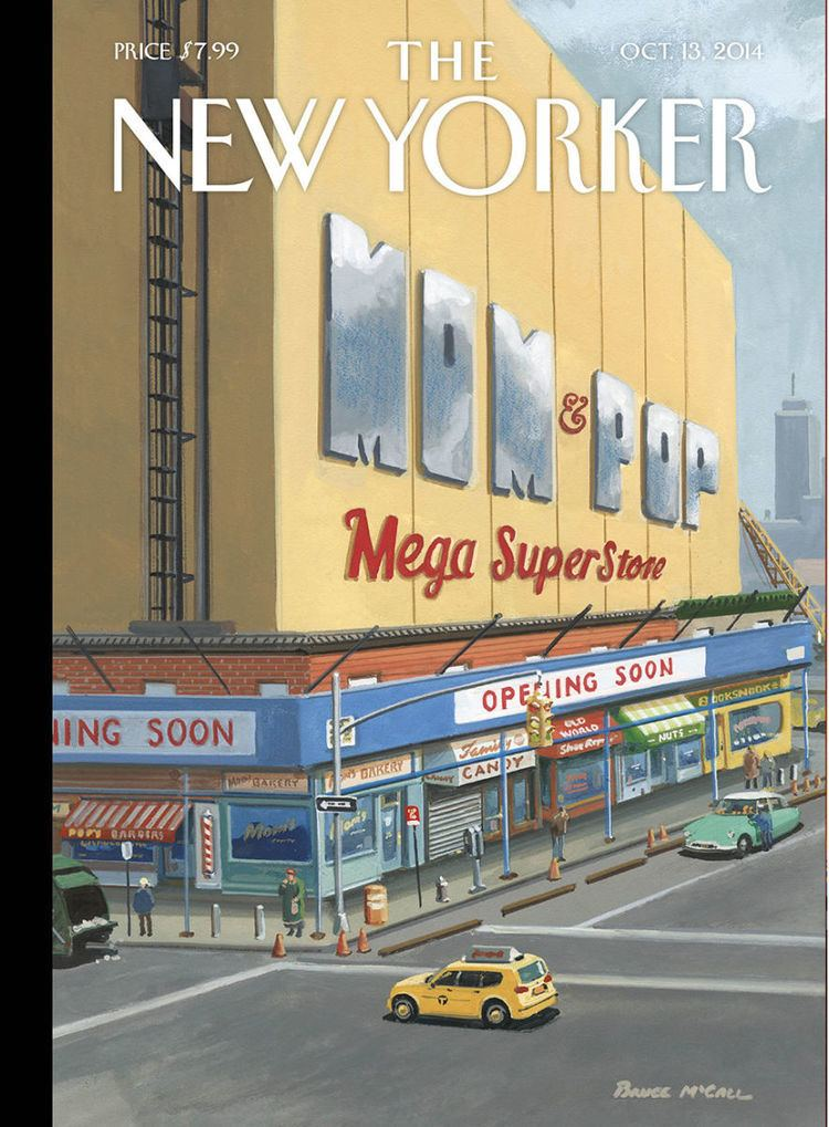 Bruce McCall Cover Story Bruce McCall39s Mom amp Pop Mega Superstore