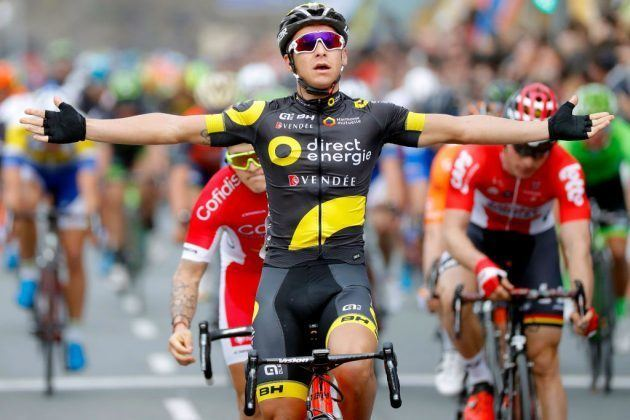 Bryan Coquard Bryan Coquard sprints to victory on stage four of Ruta del Sol