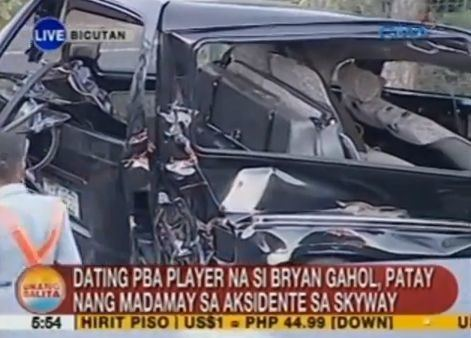 Bryan Gahol ExPBA Player Bryan Gahol Dies in a Car Accident at SLEX